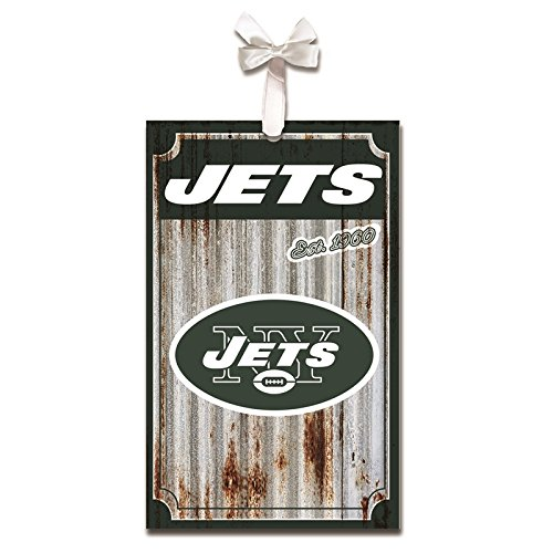 Team Sports America New York Jets, Metal Corrugate Ornament, Set of 4