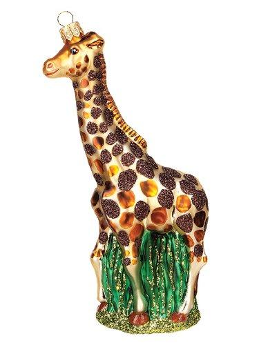 Pinnacle Peak Trading Company Giraffe Polish Mouth Blown Glass Christmas Ornament Wildlife Tree Decoration