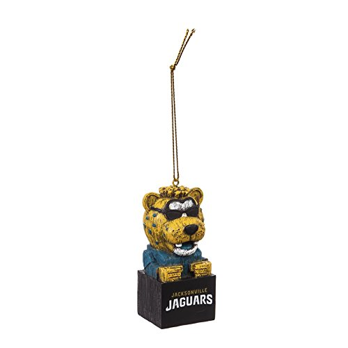 Team Sports America Jacksonville Jaguars Team Tiki Totem Mascot Ornament, Set of 2