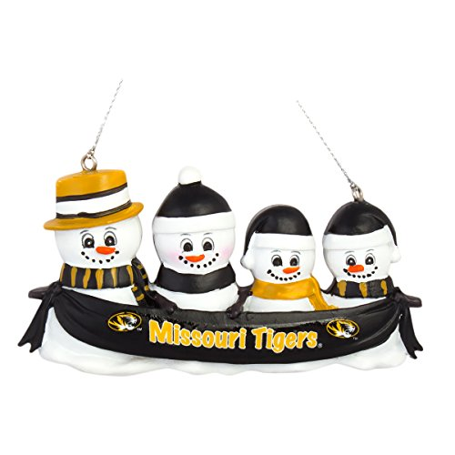 NCAA Football DIY Personalized Christmas Ornament Missouri Tigers 2-3-4-5 Head Family Team Ornament Do it yourself (4 Head)