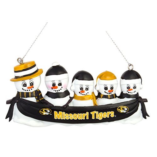 NCAA Football DIY Personalized Christmas Ornament Missouri Tigers 2-3-4-5 Head Family Team Ornament Do it yourself (5 Head)