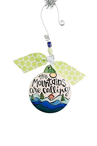 Glory Haus 2990120 Mountains are Calling Puff Ornament, 4″ x 4″, Multicolor