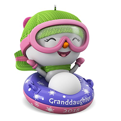 Hallmark Keepsake Christmas Ornament 2018 Year Dated, Granddaughter Snowman