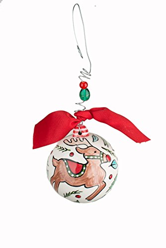 Glory Haus 4 X 4 Dashing Through the Snow Ball Ornament, Multicolor