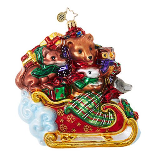 Christopher Radko Forest Flyer Animal Christmas Ornament