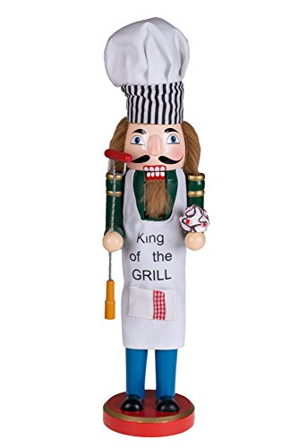"""King of the Grill Nutcracker by Clever Creations 