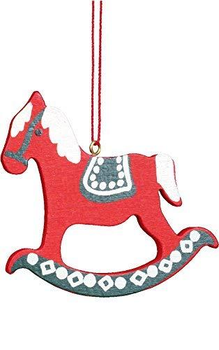 """Alexander Taron Importer 10-0388 – Christian Ulbricht Ornament – Rocking Horse Red – 2.5″"""" H x 2.5″"""" W x .25″"""" D"""