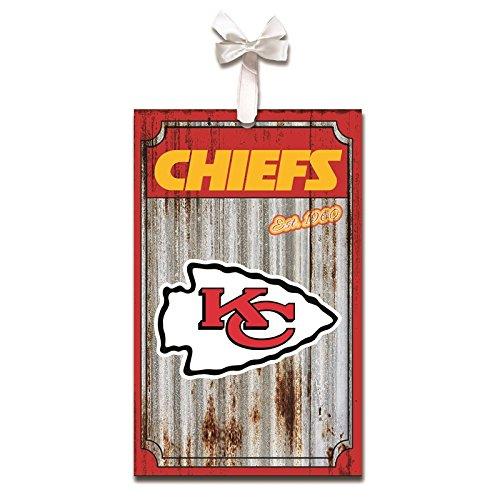 Team Sports America Kansas City Chiefs, Metal Corrugate Ornament, Set of 2