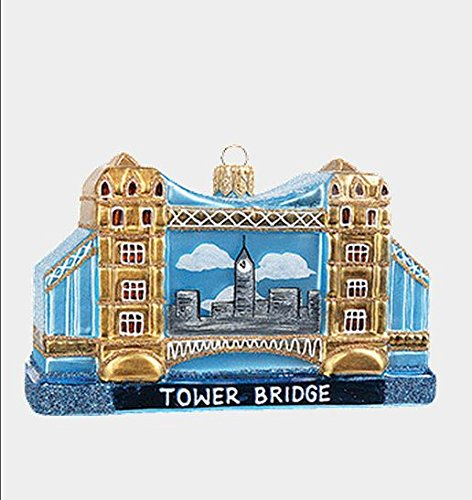 Pinnacle Peak Trading Company Tower Bridge London During Day Polish Glass Christmas Ornament Decoration