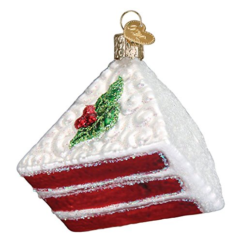 Old World Christmas Red Velvet Cake Glass Blown Ornament