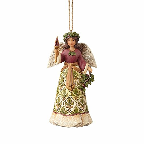 Enesco-Gift 4058758 Victorian Angel with Candle Ornament, Multi Color
