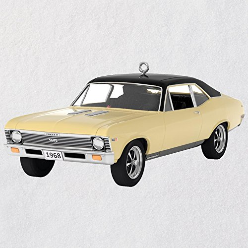 Hallmark Classic American Cars 1968 Chevrolet Nova SS Metal Ornament keepsake-ornaments Transportation