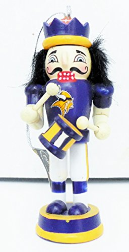 Forever Collectibles Minnesota Vikings 3.5″ Nutcracker Drummer Hanging Ornament