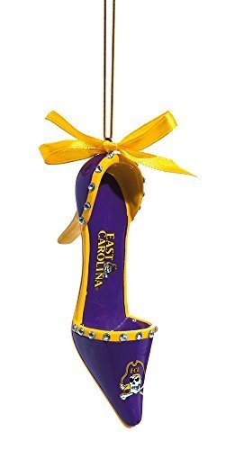 East Carolina Pirates High Heel Shoe Christmas Ornament by Fans With Pride