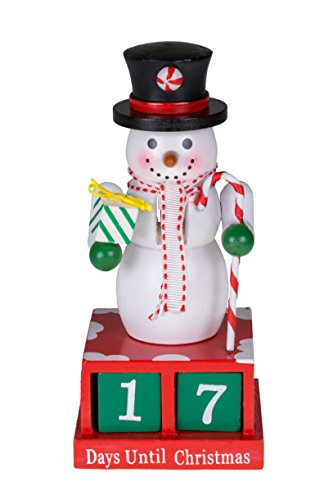 24 Plus Day Snowman Advent Calendar by Clever Creations | Countdown to Christmas | Painted Numbers | Black Top Hat with Candy Cane & Gift | 100% Wood Construction | Unique Holiday Decoration | 6″ Tall