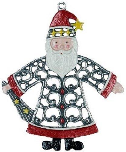 Pinnacle Peak Trading Company Santa Claus German Pewter Christmas Tree Ornament Decoration Made in Germany