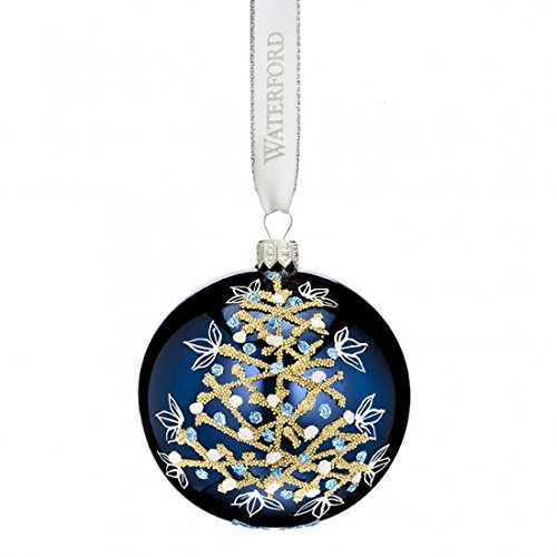 Waterford Tree Print Ball Ornament
