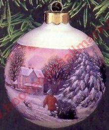 "Hallmark Ball Ornament 1998 QX2406 ""Memories of Christmas"""