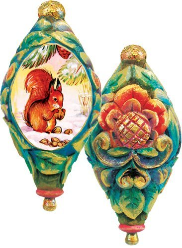 G.DEBREKHT / RUSSIAN GIFT Forest Tale Ornament – Russian Hand Crafted Hand Painted Folk Art 62251-1-GDB