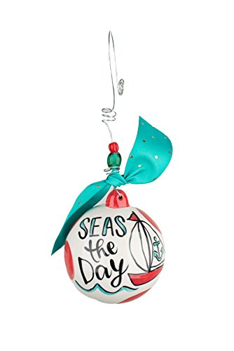 Glory Haus Seas the Day Ball Ornament, Multicolor