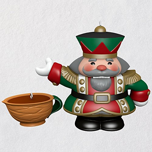 Hallmark Tea Time! Nutcracker Porcelain Ornaments, Set of 2 keepsake-ornaments Santa Claus,Eat & Drink