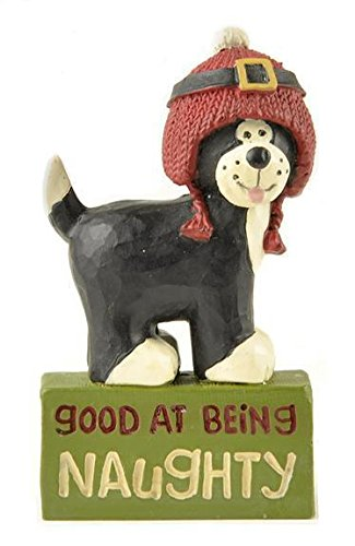 Blossom Bucket – 'Good At Being Naughty' Dog in Hat #168-10746