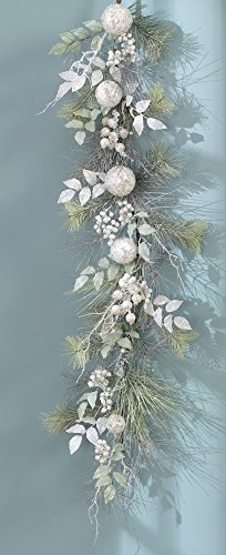 5′ Iced Pine Ornament Christmas Garland