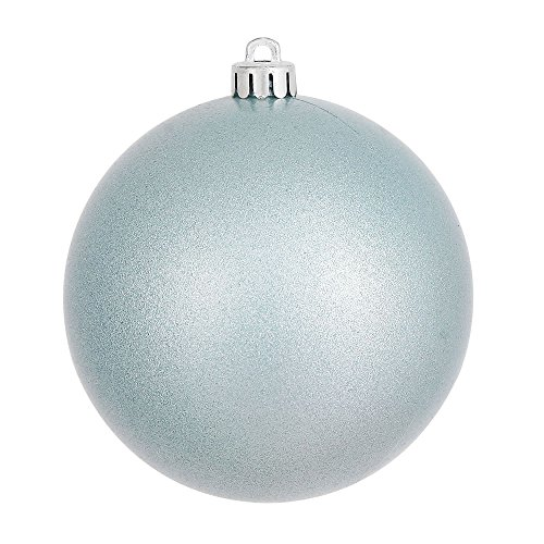 Vickerman Candy Finish Seamless Shatterproof Christmas Ball Ornament, UV Resistant with Drilled Cap, 12 per Bag, 3″, Baby Blue
