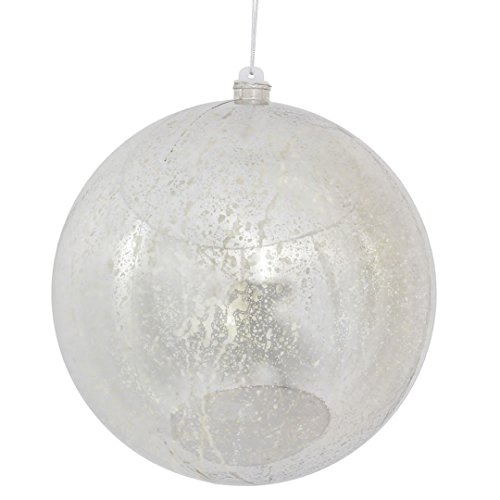 Vickerman M166607 Ball Ornament with a Mercury Finish, 200mm, Silver