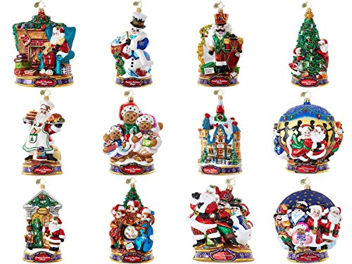 Christopher Radko Kringle's Christmas Mingle Ornament Set – Set of 12 Ornaments