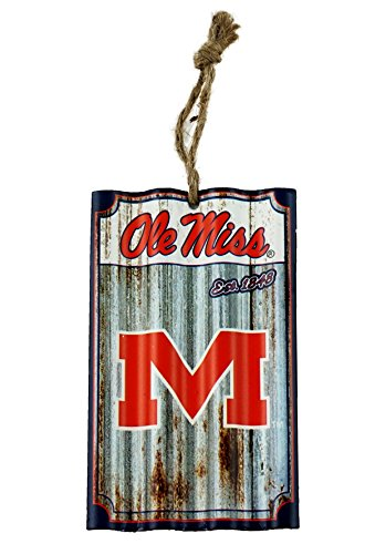 Party Explosions Ole Miss Football Corrugate Hanging Sports Ornament