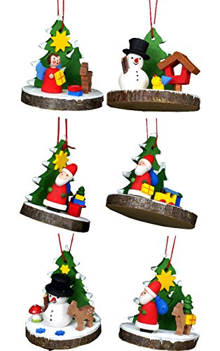 "10-0839 – Christian Ulbricht Ornament – Assorted Treeslice (Set 6) – 2″"" H x 1.5″"" W x 1.5″"" D"