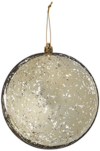 Vickerman M166538 Ball with Mercury Finish in 4 to a Bag, 150mm, Shiny Champagne