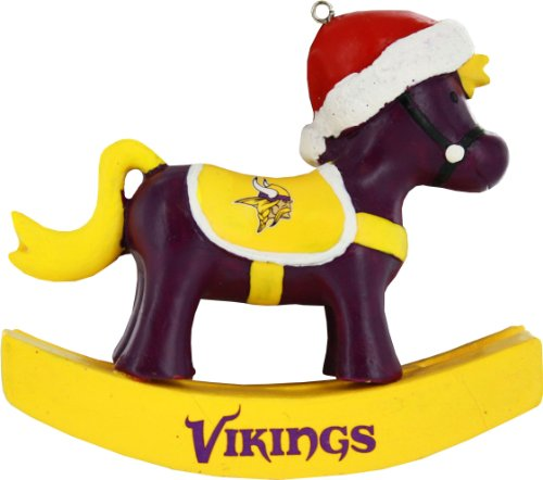 Forever Collectibles Minnesota Vikings Resin Rocking Horse Ornament