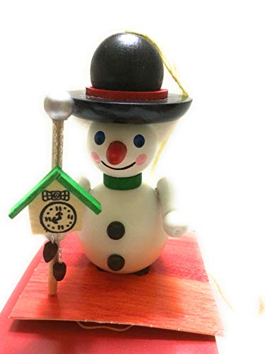 Steinbach Ornament Snowman with Clock