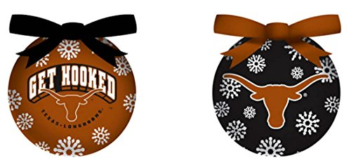 Evergreen Texas Longhorns Ornament LED Box Set