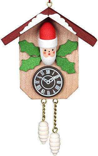 "Alexander Taron Importer 10-0811 – Christian Ulbricht Ornament – Santa on Cuckoo – 2.5″"" H x 2.5″"" W x 1.25″"" D"