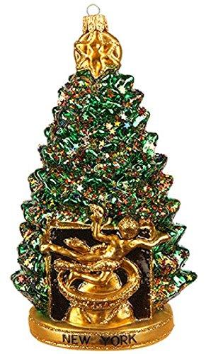 Pinnacle Peak Trading Company New York City Rockefeller Center Christmas Tree Polish Glass Ornament Decoration