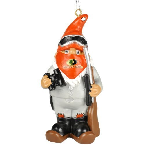 Mossy Oak Hunter Thematic Gnome Christmas Tree Hanging Ornament (Hunter w/ Binoculars Winter Version)