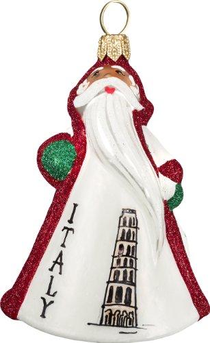 Mini Glitterazzi Italy Santa Ornament