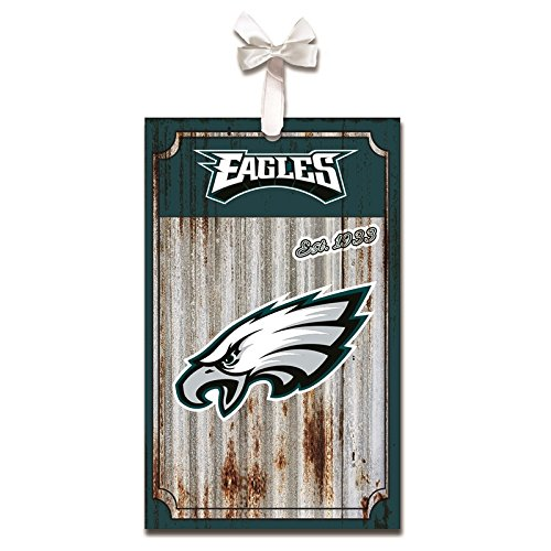 Team Sports America Philadelphia Eagles, Metal Corrugate Ornament, Set of 2