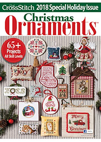 2018 Just Cross Stitch CHRISTMAS ORNAMENTS Special Interest Publication