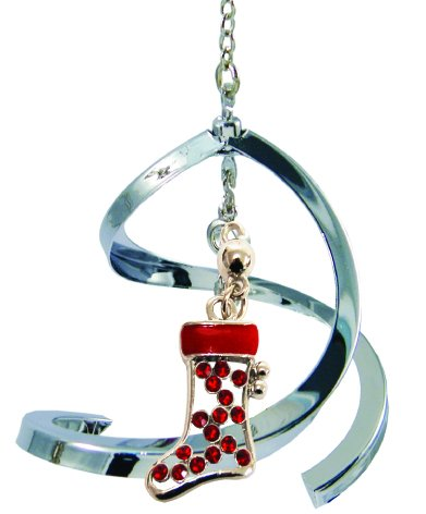 Propelling Spiral Ornaments (Christmas Stocking – Red)
