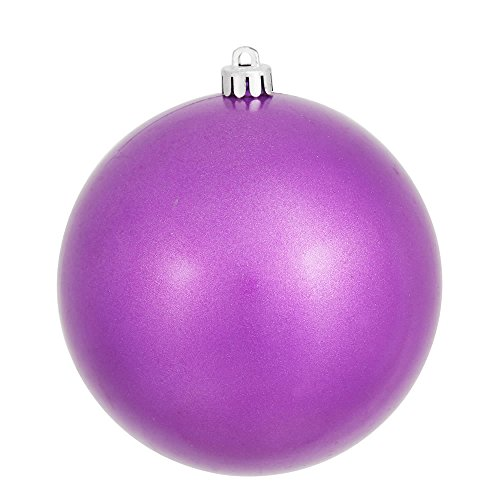 Vickerman Pink Candy Finish Seamless Shatterproof Christmas Ball Ornament, UV Resistant with Drilled Cap, 12 per Bag, 3″, Orchid