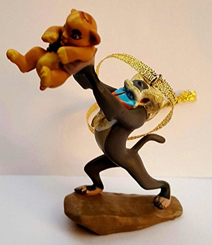 4″ Disney Lion King Rafiki Baboon & Baby Simba Christmas Tree Ornament Figure