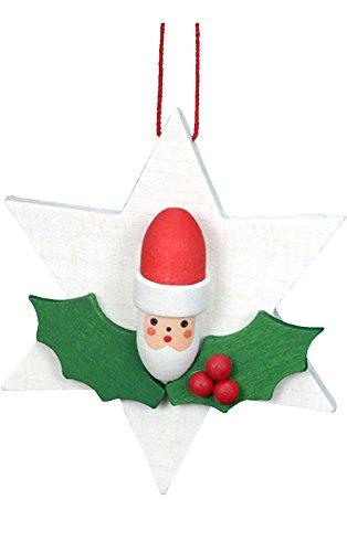 "Alexander Taron Importer 10-0828 – Christian Ulbricht Ornament – Santa on Star – 2.5″"" H x 2.5″"" W x .75″"" D"
