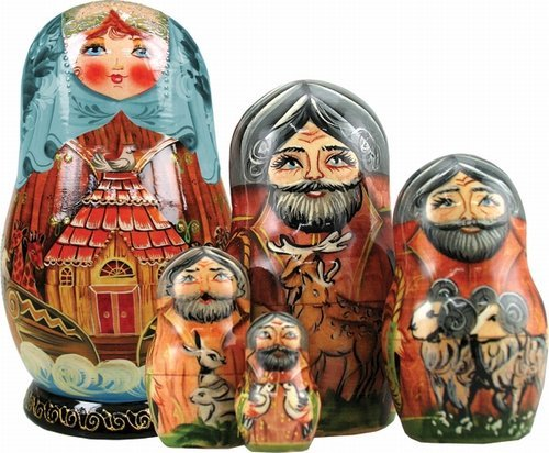 G. Debrekht Noah'S Ark Nested Doll, 6″