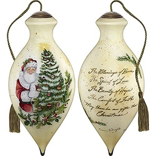 Ne'Qwa Art Hand Painted Blown Glass The True Gifts of Christmas Ornament, Multicolor
