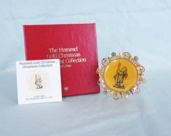 Hummel Gold Christmas Ornament Collection – Candle Light