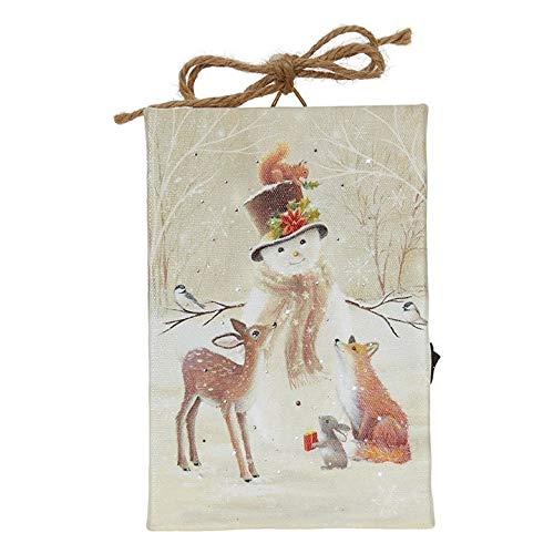 "RAZ Imports Snowmen & Friends Print Ornament with Easel Back 4""L X 6""H"